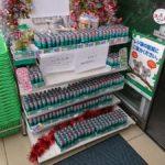 大田区のファミマ、ラムネ480個納品で大量陳列!